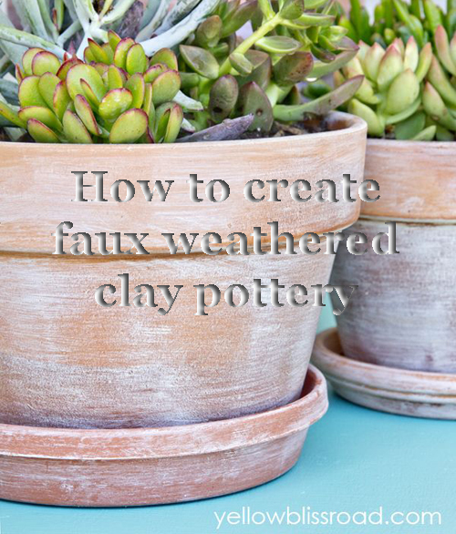 DIY How to create a faux weather clay garden pot