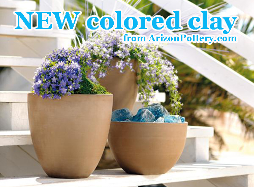 Arizona Pottery Colored Clay Garden Planters