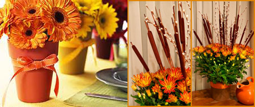 Turn Flowerpots into a Thanksgiving tablescape
