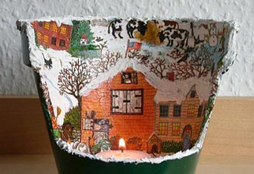 A DIY Tealight Flowerpot Candle