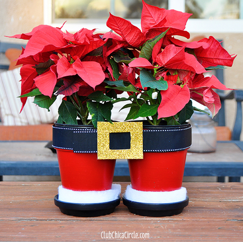 DIY craft idea using flowerpots Christmas Craft