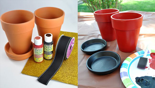 Make this DIY Craft for Christmas using flowerpots
