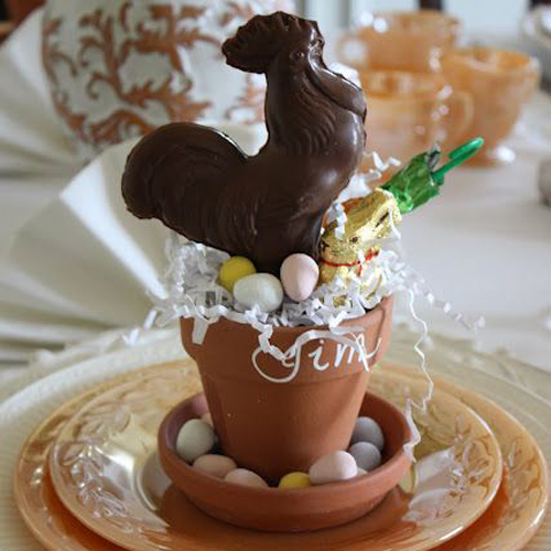 Easter Place Cards Clay Flowerpots