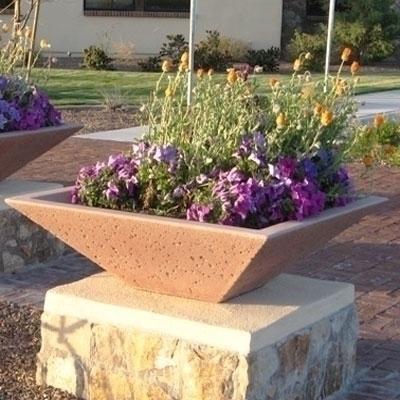 Concrete Garden Planter Pots Outdoor Pottery Square Concrete Pot