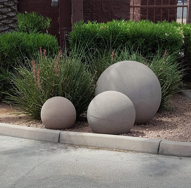 Concrete Garden Sphere Made In, How To Make Cement Garden Spheres
