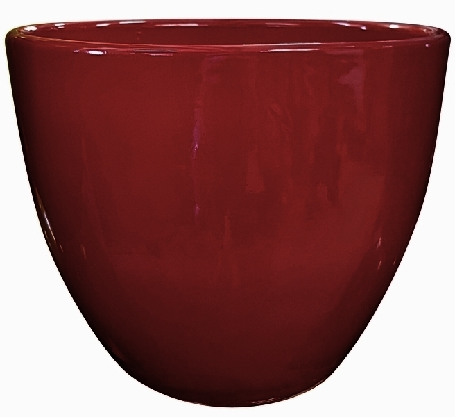 High Shine Red Glossy Glazed Flower Pot Tapered Planter In Many Sizes Home Amp Garden Pottery