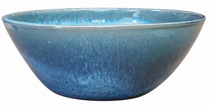 Garden Low Bowl #51 Arctic Blue   Garden Bowls | High Shine Glossy Glaze |
