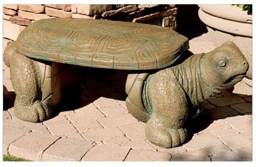 Decorative Garden Bench Turtle