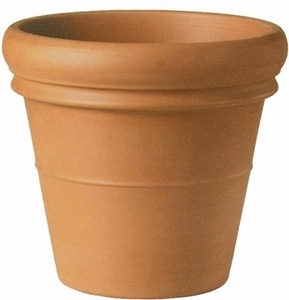 Italian Terracotta Rolled Rim Taper - Best Selling | Largest Terracotta Clay Planter | Italian Rolled Rim Pottery