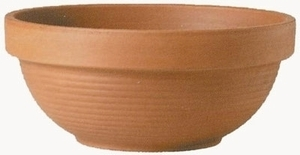 Italian Terracotta Deep Bowl - Garden Bowl Shaped Flowerpots | Made in Italy | Planters & Containers