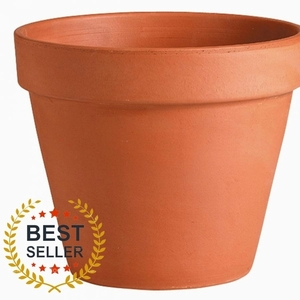 Italian Terracotta Standard Pot - Standard Terracotta Flowerpot | Made in Italy | Craft Pots | Garden Planter