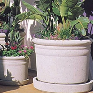 Concrete Ribbed Pot - Concrete Cylinder Garden Planters & Pots | Big Sizes | 15 Colors | American Made | Ships across the US.