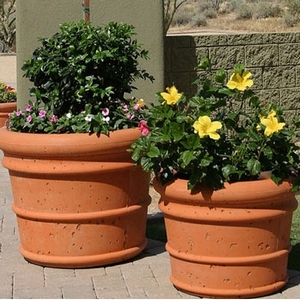 Concrete Italian Pot - Concrete Italian Style Garden Planters & Pottery | Made in America | Arizona Pottery