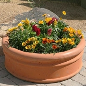 Concrete Italian Low - American Concrete Planters & Pots | Durable Yard Pottery | Italian Low Bowl