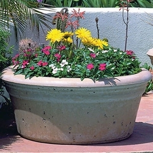 Concrete Low Bowl - Concrete Outdoor Planters & Pots | American Made | Durable | Low Bowl