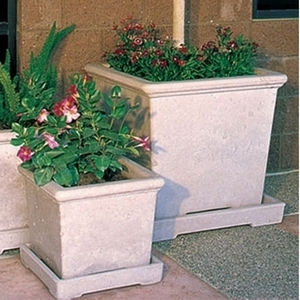 Concrete Classic Square - Concrete Square Garden Pottery | American Made | 15 Colors | Durable Planters & Pots