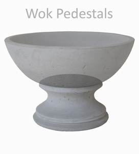 Concrete Wok Pedestal - Concrete Pedestal to support Concrete Wok Planters & Pots | Ships Nationwide.