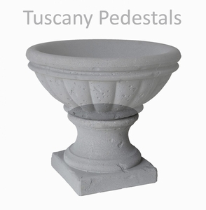 Concrete Tuscany Pedestal - Concrete Pedestals that support Concrete Pottery | American Made | Ship Nationwide.  15 Colors