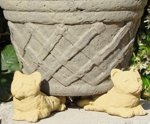 Concrete Kitten Pot Feet Set of 3 - Kitten Pot Feet | Concrete Pot Feet | Home and Garden Pot Feet | Arizona Pottery Pot Feet | Flowerpot Pot Feet | Pottery Feet