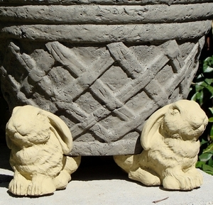 Concrete Lop Ear Rabbit Pot Feet Set of 3 - Rabbit Pot Feet | Animal Pot Feet | Concrete Pot Feet, Home and Garden Pot feet | Arizona Pottery Pot Feet | Pot Feet