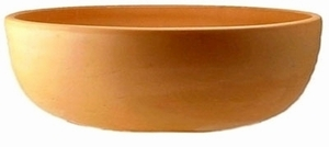 Mexican Terracotta Color Bowl - Mexican Color Bowl garden pottery made of real terracotta clay for home and garden use.