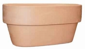 Mexican Oval Pot includes Saucer - Oval Flowerpot and Saucer | Made in Mexico | Real Terracotta Clay | Buy Now!