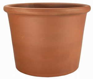 Italian Terracotta Lipped Cylinder - Large Cylinder Landscape Container | Made in Italy | Real Terracotta Clay