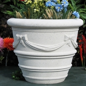 Sandstone Cardiff Vase - Sandstone Planter & Pots | American Made Yard Pottery | Unique Styles | Ship Nationwide.