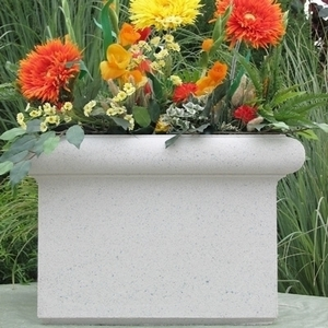 Sandstone Chelsea Box - Sandstone Square Planter & Pots | Custom Made | Ships Nationwide | Durable & Beautiful Pottery from Arizona Pottery