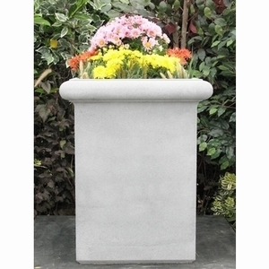 Sandstone Chelsea Box Tall - Sandstone Tall Square Garden Planter & Pots | Unique & Decorative Yard Containers Shop Now!