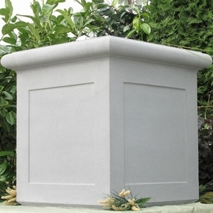 Sandstone Chelsea Box Paneled - Sandstone Large Classic Square Planters & Pots | American Made Pottery from Arizona Pottery.  Unique, Durable & Beautiful.