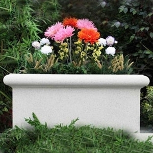 Sandstone Chelsea Trough - Low Rectangle Garden Planter | Sandstone Pottery | 5 color choices | Ships Nationwide