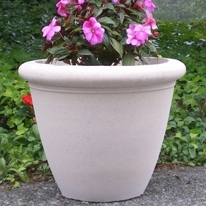 Sandstone Dorset Bowl - Sandstone Garden Bowls & Planters | 5 colors | Stylish Pottery | Ships Nationwide