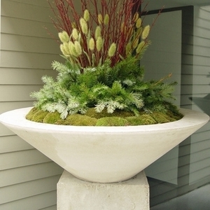 Sandstone Essex Bowl - Sandstone Tapered Planter Bowl | Home & Garden Pottery American Made