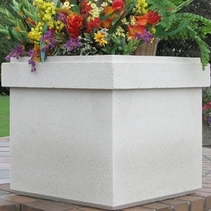 Sandstone Tahoma - Square Decorative Sandstone Garden Planter | 5 color choices | Made in America | Home and Garden Planters