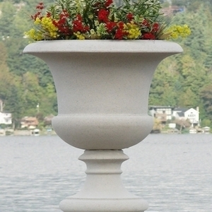 Sandstone Victorian Vase - Tall Victoria Garden Urn | Made in 5 Colors in America | Patio and Garden Planters | Ship Nationwide