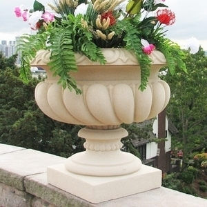 Sandstone Vulliamy Vase - Large Garden Urn made from Sandstone.  5 Colors | Durable | Made in America. Perfect for Home or Garden and Patio.