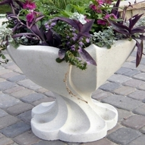 Sandstone Nouveau Vase - Sandstone Pots & Planters | Home & Garden American Made | 5 colors | Ship Nationwide | Shop Now!
