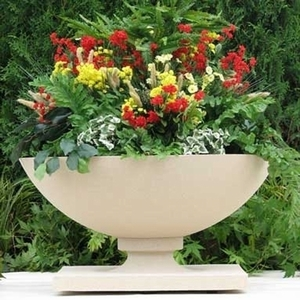 Frank Lloyd Wright Allen House Planter - Frank Lloyd Wright Sandstone Garden Planters | Made in America | 5 Color Choices | Ships Nationwide | Home and Garden Pottery