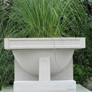 Frank Lloyd Wright Oak Park Studio Planter - Frank Lloyd Wright Garden Containers | Made in America | 5 Colors | Sandstone Pottery Ships Nationwide | Original Designs | Stunning