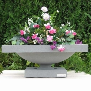 Frank Lloyd Wright Robie House Planters - Frank Lloyd Wright Sandstone Pottery & Garden Containers | 5 Colors | Made in America | Contemporary Styles | Original Designs | Ship Nationwide