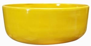 Color Garden Bowl #15 Sunflower Yellow - Bright Glossy Yellow Garden Bowl | Tabletop Pottery & Planters | Perfect for Succulents | High Shine Finish | Arizona Pottery | Ships Nationwide
