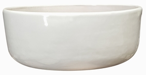 Color Bowl #2 Gloss White - Bright Glossy White Garden Bowl | Tabletop Pottery & Planters | Perfect for Succulents | High Shine Finish | Arizona Pottery | Ships Nationwide
