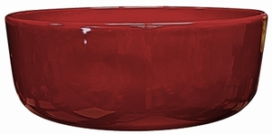 Garden Color Bowl #10 Love Red - Bright Glossy Red Garden Bowl | Tabletop Pottery & Planters | Perfect for Succulents | High Shine Finish | Arizona Pottery | Ships Nationwide
