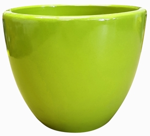 Liberty Bell Garden Planter #46 Apple Green - High Shine Apple Green Glossy Glazed Flower Pot | Tapered Planter In Many Sizes | Home & Garden Pottery from Arizona Pottery | Ships Nationwide