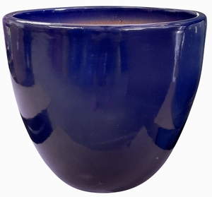 Liberty Bell Garden Planter #7 Cobalt Blue - High Shine Cobalt Blue Glossy Glazed Flower Pot | Tapered Planter In Many Sizes | Home & Garden Pottery from Arizona Pottery | Ships Nationwide