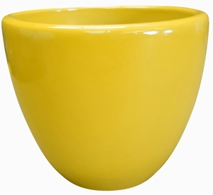 Liberty Bell Garden Planter #15 Sunflower Yellow - High Shine Yellow Glossy Glazed Flower Pot | Tapered Planter In Many Sizes | Home & Garden Pottery from Arizona Pottery | Ships Nationwide