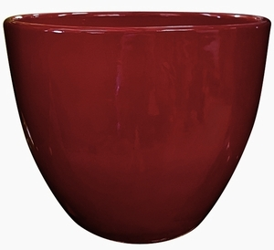 Liberty Bell Garden Planter #10 Love Red - High Shine Red Glossy Glazed Flower Pot | Tapered Planter In Many Sizes | Home & Garden Pottery from Arizona Pottery | Ships Nationwide
