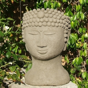 Concrete Buddha Head Planter - Buddha Head Shaped Flower Pots | Made of Concrete | 5 Colors | Made in America | Ships Nationwide | Exclusive  | Durable | Concrete Garden Planter | Human Head Pot | Pot Shaped LIke Head