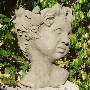 Concrete Cherub Head Planter - Angel Head Flower Pot | Made in America | 5 Colors | Ships Nationwide | Garden and Patio Pottery|  Durable | Original Designs | concrete garden pottery | head planter | Angel head planter | pot looks like head